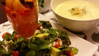 コーンスープ&サラダプレート