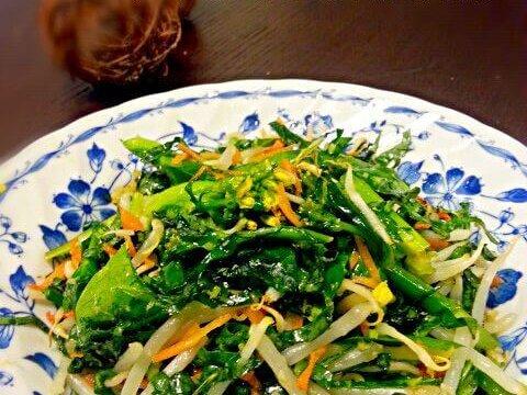 ケールと菜花のロー炒め風